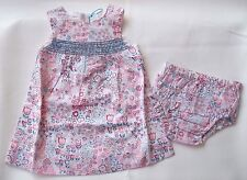 ANGEL DEAR MEADOW 2 PIECE 100% COTTON FLORAL DRESS WITH BLOOMERS