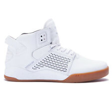 """Supra """"Skytop III"""" Shoes (White/Gum) Men's Mid-Top Leather Basketball Sneakers"""