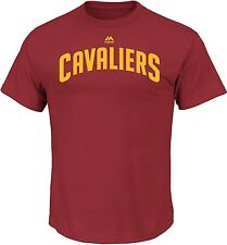 Cleveland Cavaliers NBA Mens Red Short Sleeve Team Wordmark Logo T-Shirts: L-XL