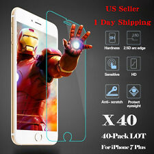 LOT 40x Wholesale Tempered Glass HD Screen Protector Film for iPhone 7 Plus