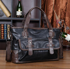 New Men Business Leather Handbag Briefcase Shoulder Messenger Laptop Fashion Bag