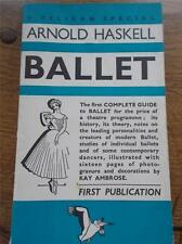 Vtg 1938 1st Ed Book The First Complete Guide to BALLET History Theory Dancers