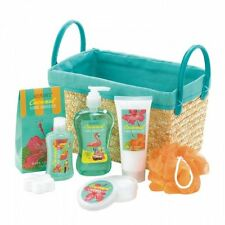 Coconut Lime Tropical Spa Basket Set Tub Shower Best Mothers Day Gift Relax Love