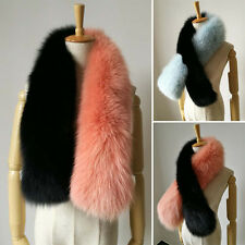 Warm Real Genuine Whole Ranch Fox Fur Scarf Shawl Vintage Wrap Stole Scarves