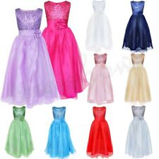 Flower Girl Princess Wedding Pageant Dance Party Ball Gown Sequined Long Dress