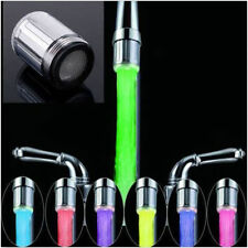 NEW LED Water Faucet Stream Light Changing Glow Shower Stream Tap + Faucet NL