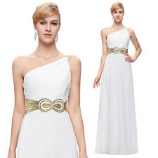 One Shoulder Chiffon Ball Prom Evening Long Maxi Party Bridesmaid Formal Dresses