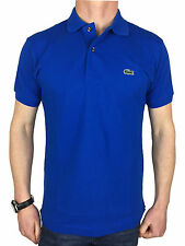 Lacoste Mens S/S Logo Branded Polo Shirt in Olympus Blue