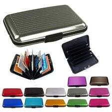 Slim Business ID Credit Card Wallet Holder Aluminum Metal Pocket Case Box AZ