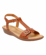 Clarks MANILLA LIFT Womens Tan Leather 16506 Ankle Strap Comfort Sandal Shoes