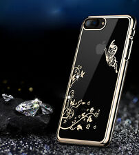 Luxury Diamond Bling Pattern Plated Hard PC Back Case Cover For Apple iPhone