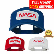 NASA Logo Embroidered Snapback Patched Mesh Back Baseball Cap Trucker Hat NEW