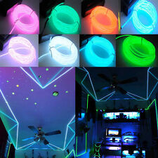 1/2/3/4/5M Flash Flexible Neon LED Glow EL Strip Tube Wire Rope Party Light WC