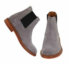 Handmade Chelsea gray Ankle High Leather Boots Men, Chelsea Boots ,Dress Boots