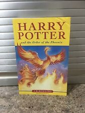 HARRY POTTER and the ORDER of the PHOENIX 1st First Edition/Print Paperback Book