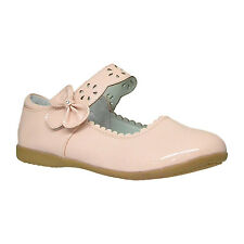 Girls Scalloped Mary Jane Casual Comfort Patent Ballet Flats Pink