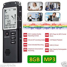 Professional 8GB Time Display Recording Digital Voice/Audio Recorder MP3 Player