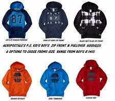 NEW BOYS AEROPOSTALE PS KIDS PS9 PSNY 87 AERO RAGLAN INKY PLAID HOODIE SWEATER