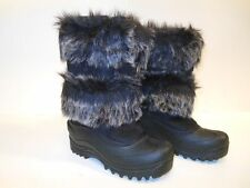 Snow boots Cold Front Boots Skiing Snow Winter Warm boots Black w/Faux fur