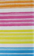 Summer Fun Color Streaks Vinyl Tablecloth w/Zipper Umbrella Hole Various Sizes