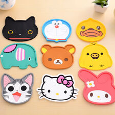 Cute Cartoon Coaster Silicone Cup Cushion Holder Drink Placemat Home Tea Mat