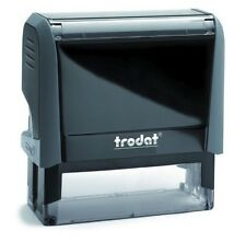 RUBBER STAMP Self-inking Trodat Printy to 8 Lines with Custom Text Logo