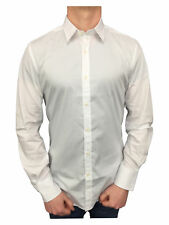 Antony Morato Mens L/S Gold Super Slim Fitted Shirt in White