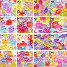 100/500pcs Mixed Colour Transparent Assorted Design Resin Beads Eco-friendly