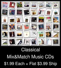 Classical(5) - Mix&Match Music CDs @ $1.99/ea + $3.99 flat ship