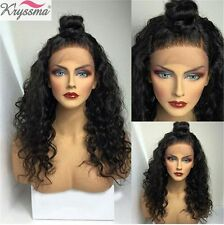 Curly 100 Human Hair Brazilian Lace Front Wigs Remy Hair Full Lace Wig For Women