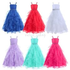Flower Girls Princess Wedding Party Dress Formal Pageant Bridesmaid Communion