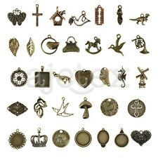 35 style 2-100pcs DIY Spacer Metal Pendant Jewelery Finding
