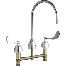 Chicago Faucets 201-AGN8AE29-317AB Concealed Hot & Cold Water Sink Faucet