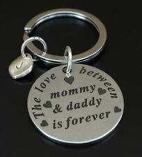 The love between Mommy and Daddy is forever Keychain, Gifts for Parents, Daddy