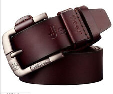 Men Genuine Leather Cowhide Waist Belt Pin Buckle Brand Business Belt Waistband