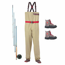 Redington Crosswater Youth Ultimate Fly Fishing Starter Bundle w/ Outfit & Gear