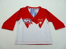 AFL SYDNEY SWANS BABY/TODDLERS FOOTY JUMPER/GUERNSEY - BRAND NEW