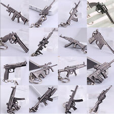 Military ​Weapon Pistol Airplane Tank Gun Model Metal Keyring Keychain Key Chain