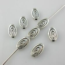 80/650pcs Oval Tree round Antique Silver Charm Spacer Beads DIY Jewelry Making