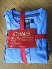 Chaps Men Small 2 Piece Sleep/Lounge/Pajama Set Jersey Knit Henley Top and Micro