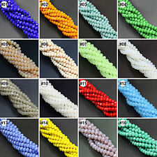 100/500pcs Mixed Colour Synthetic Crystal Gemstone Flat Loose Beads