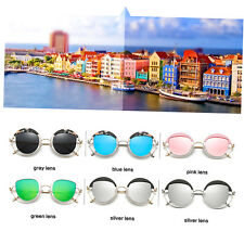 Hindfield Fashion Korean Style Metal Sunglasses Women Round Sunglasses #850 AU