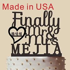 Finally Mr and Mrs Cake Topper, Wedding Cake Topper, Custom Cake Topper, CT143