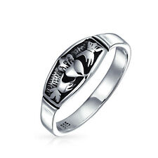 Bling Jewelry Antiqued Silver Irish Celtic Claddagh Heart Promise Ring