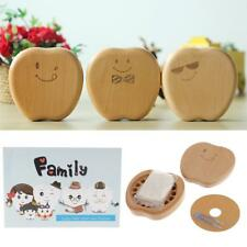 Apple Wooden My First Tooth Curl Storage Box Keepsake Memorial Souvenir Gift