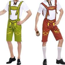 Mens Costumes Lederhosen Kit Suspenders Oktoberfest Beer German Suit Fancy Dress