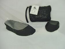 Isabella's Journey ballet ballerina Slip on foldable flats,  with carryon bags