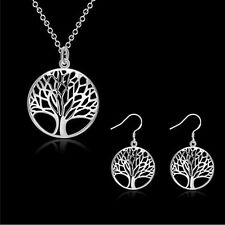 New 925 Silver Filled Tree of Life Charm Pendant Necklace Jewelry Gift