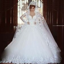 2017 White/ivory lace Wedding dress Bridal Gown stock size: 6-8-10-12-14-16-18++