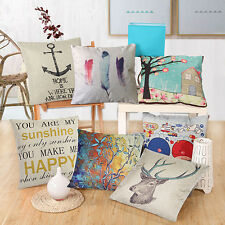 Fashion Square Linen Throw Pillow Case Cushion Cover Home Sofa Decoration Eager